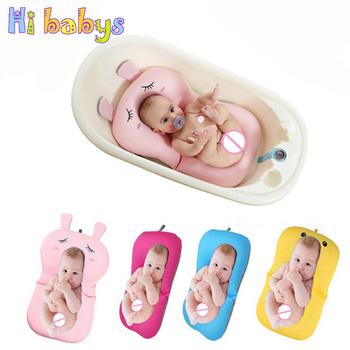 Wanna dla dzieci wanienka Bloom Neworn mata do kąpieli mata dla niemowląt bezpieczeństwo krzesełko do kąpieli wsparcie prysznic składane siedzenie tanie i dobre opinie Tkaniny Stałe Babies Baby Bathtub Wanny 7-9 M 19-24 M 13-18 M 10-12 M 0-3 M 4-6 M