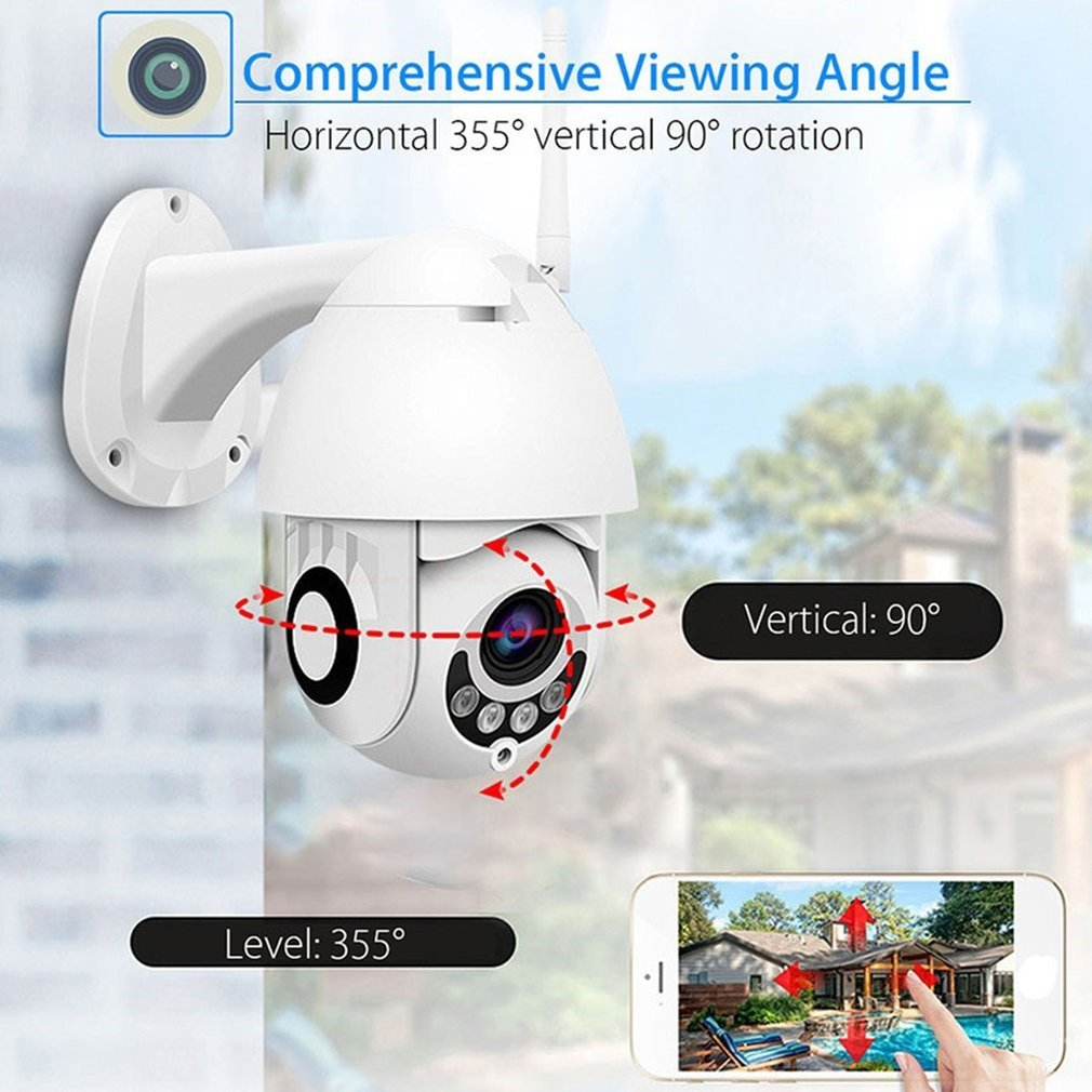 1080P Outdoor PTZ IP Camera CCTV Security Speed Dome Camera Surveillance WIFI Cloud Storage Night Vision Motion Detection