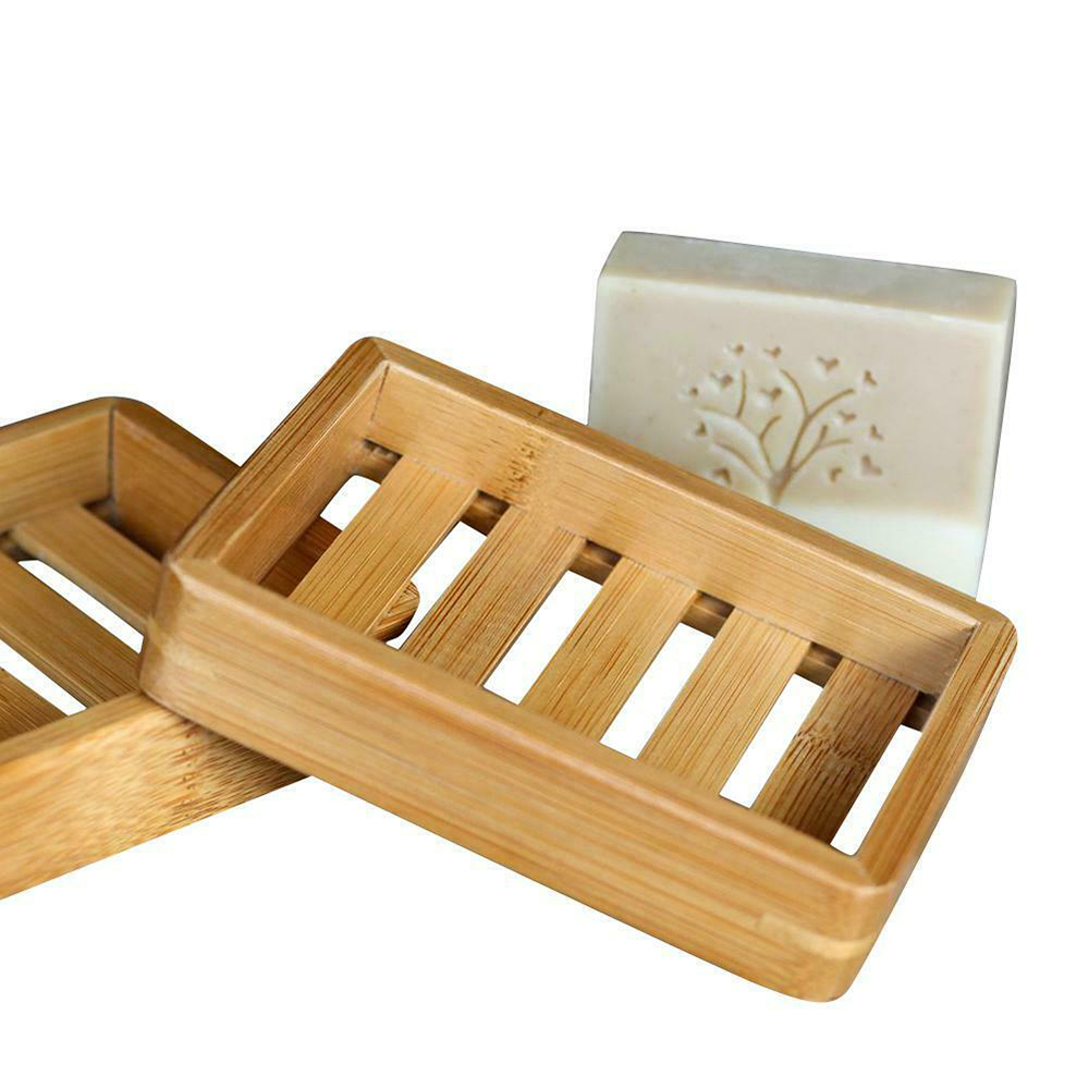 1Pcs Portable Soap Dishes Creative Simple Bamboo Manual Drain Soap Box Bathroom Bathroom Japanese Style Soap Soap Box