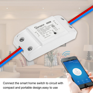 Image 4 - 4Pcs ITEAD Sonoff Basic R2 Wifi DIY Smart Wireless Remote Switch Domotica Light Controller Module For Alexa Google Home eWeLink