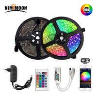 Tira LED RGB 5m 10m 15m LED de neon resistente al agua luz 2835 DC12V 60 Leds/M adaptador de controlador de cinta