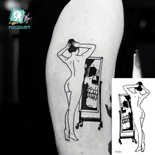 Fake Tattoos Temporary Girl Sticker Drawing Water-Transfer Body-Art Little-Element Floral-Ballet