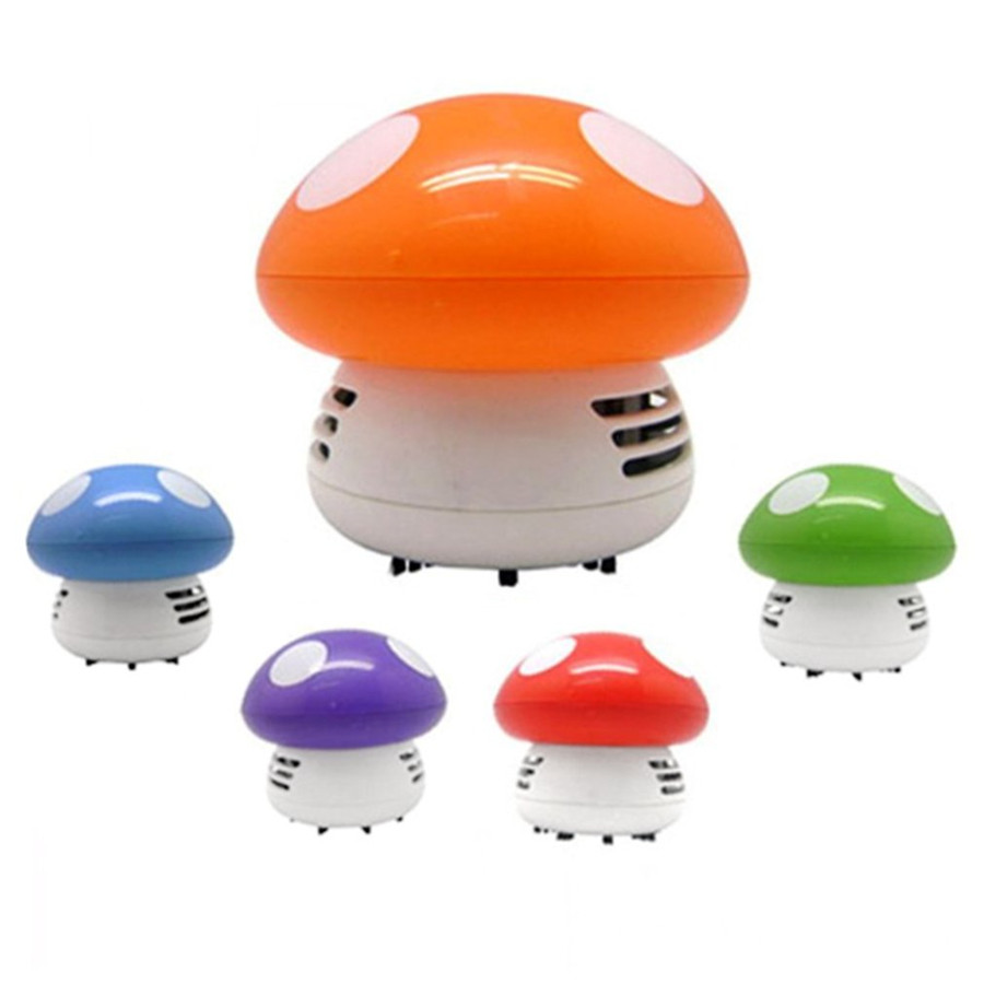 Cute Mini Mushroom Desk Vacuum Cleaner Corner Desk Table Dust Collector Sweeper Computer Cleaning Tools 5 Colors Drop Shipping