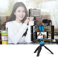 PULUZ Dual Handheld filmación grabación Vlogging Video Rig caso estabilizador de la película de la manija fija Grip Rig para iPhone  Smartphones|rig grip|rig handle|rig video -