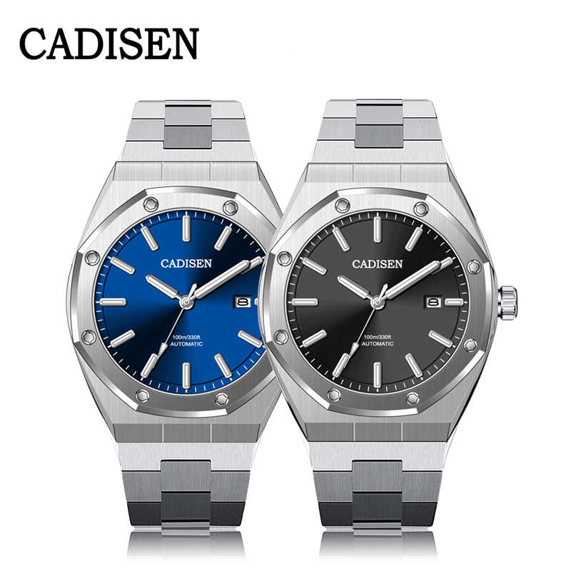 Cadisen デザイントップブランドの高級メンズ腕時計機械式自動腕時計メンズ 100 メートル防水ビジネスファッション NH35 腕時計メンズ