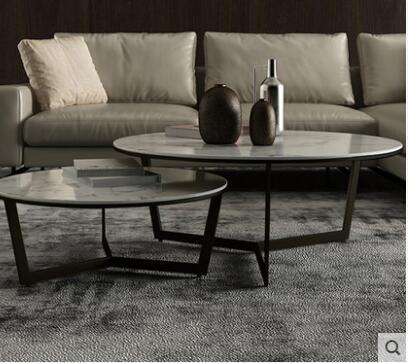 Скандинавский Мраморный Круглый Чайный Столик Современный Простой Круглый Чайный Столик сочетание простой и легкий роскошный мраморный чайный столик комбинация - Цвет: 6