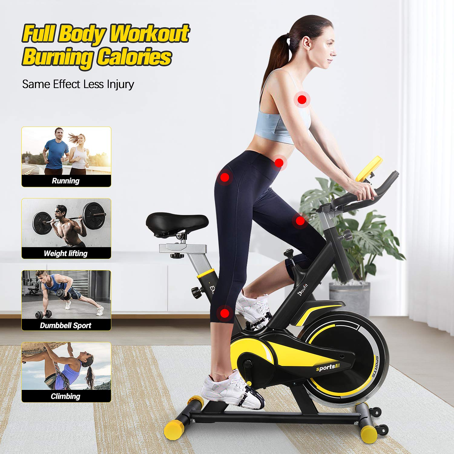 Permalink to Doufit EB-09 Indoor Cycling Exercise Bike Weight Loss Machine Aerobic 13KG Flywheel Home Gym Fitness Equipment Max 264 Lbs