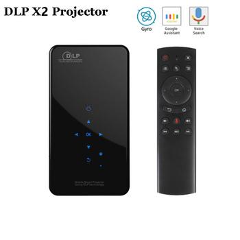DLP X2 Mini projektor z systemem Android 7 1 2000 lumenów Rockchip RK3128 przenośny projektor BT4 1 1080P 4K LED kina domowego X3 żarówka jak tanie i dobre opinie Unic Auto Korekty Projektor cyfrowy Ue wtyczka Us wtyczka Au plug Wtyczka uk 16 09 200 ANSI Lumens 854x480 dpi 30-200 cali