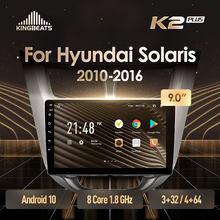 KingBeats Android 10 Octa-Core head unit HU 4G in Dash Car Radio Multimedia Video Player Navigation GPS For Hyundai Solaris 1