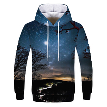 Hot Fashion Men/Women 3D Sweatshirts Print Flashing starry s