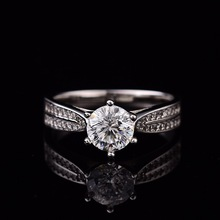 D Color VVS Natural Moissanite Ring 0.5ct-2ct for Women Engagement Rings S925 Sterling Silver Female Ring Can Be Customized