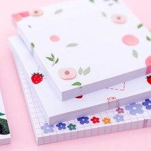 Bloc-notes collants, fournitures scolaires et de bureau, mémos et notes, pour les étudiants, motif fleurs, 1 lot,