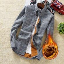 4XL 5XL большой размер мужская деловая Повседневная клетчатая рубашка с длинными рукавами бархатная Толстая Теплая мужская деловая платье-рубашка в полоску плюс