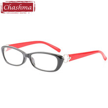цены Women Optical Eyewear Student Prescription Glasses Frame Black with Red Fashion Optical Rimmed Glass