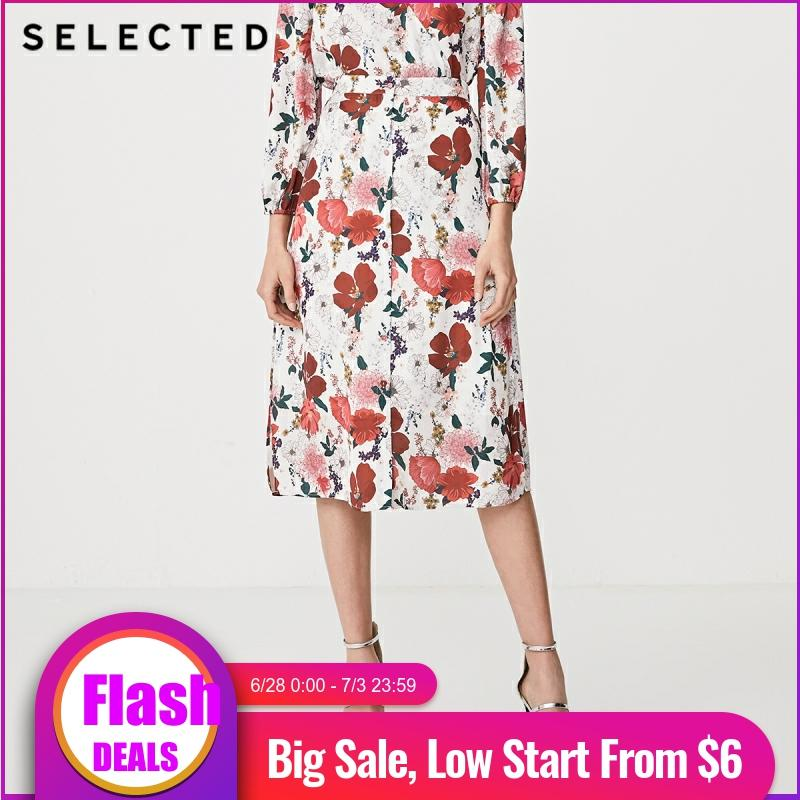 SELECTED Summer Printed High-rise Mid-length Skirt S|41924C522