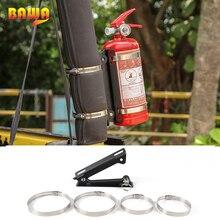 BAWA  Metal Fire Extinguisher Holder Bracket Car Rear Racks Accessories for Jeep Wrangler CJ YJ TJ JK JL 1986 2018