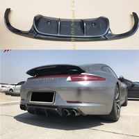 VRS Style Real Carbon Fiber Rear Bumper Diffuser For Porsche 911 991 Carrera & Carrera S Models 2012 2013 2014 2015