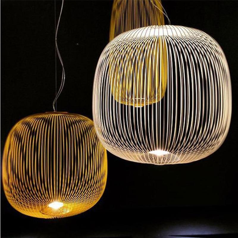 Replik Foscarini Speichen 2 Suspesnsion Weiß Anhänger Lampe esszimmer Bar Küche insel Birdcage licht italienischen designer lampe