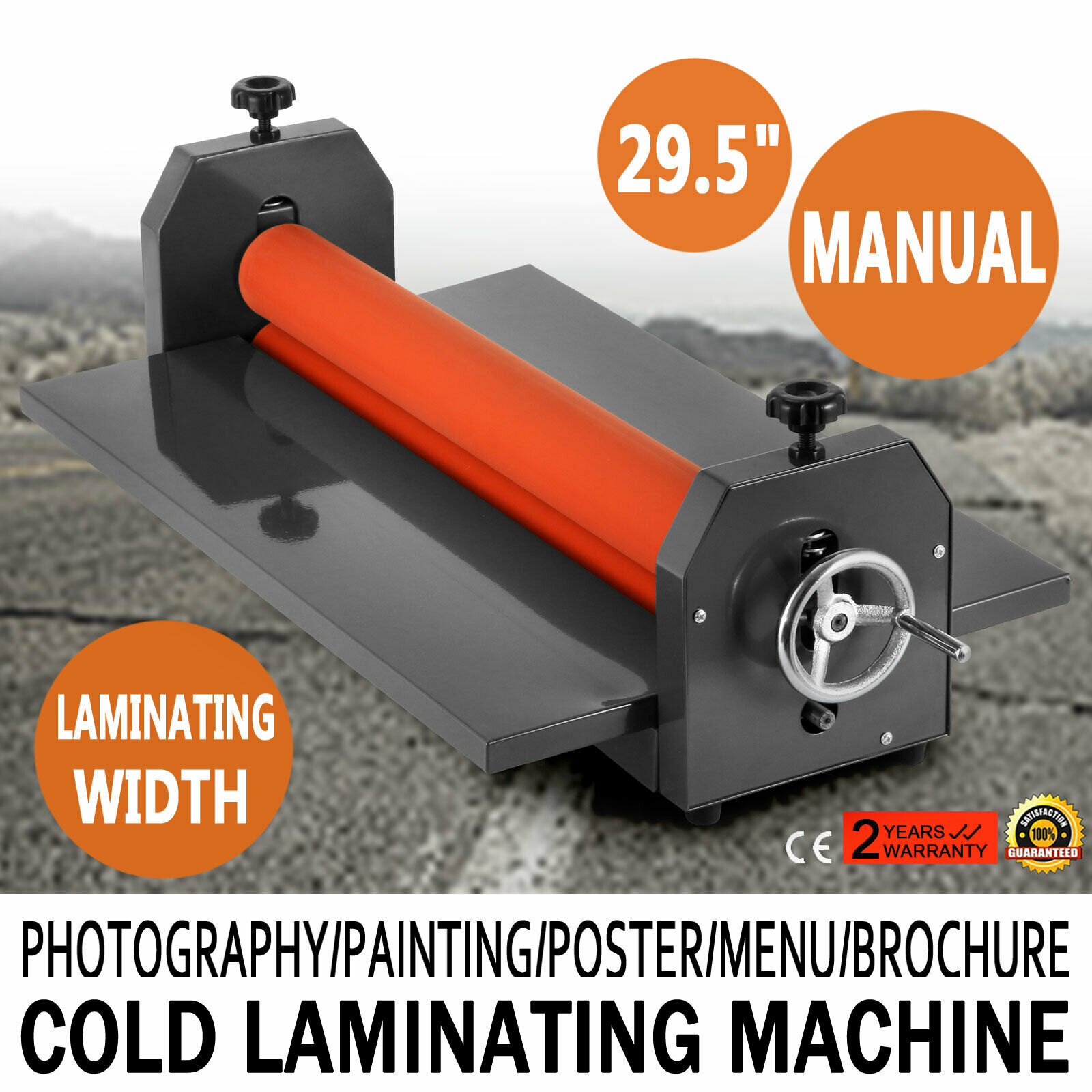 750MM Manual Cold Roll Laminator Vinyl Photo Film Mounting Laminating Machine With  Free Shipping To EU