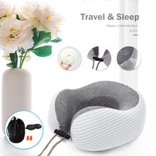 Foldable U-Shape Pillow Neck Head Rest Support Air Soft Cushion for Travel Plane Protable Pillow#g5(China)