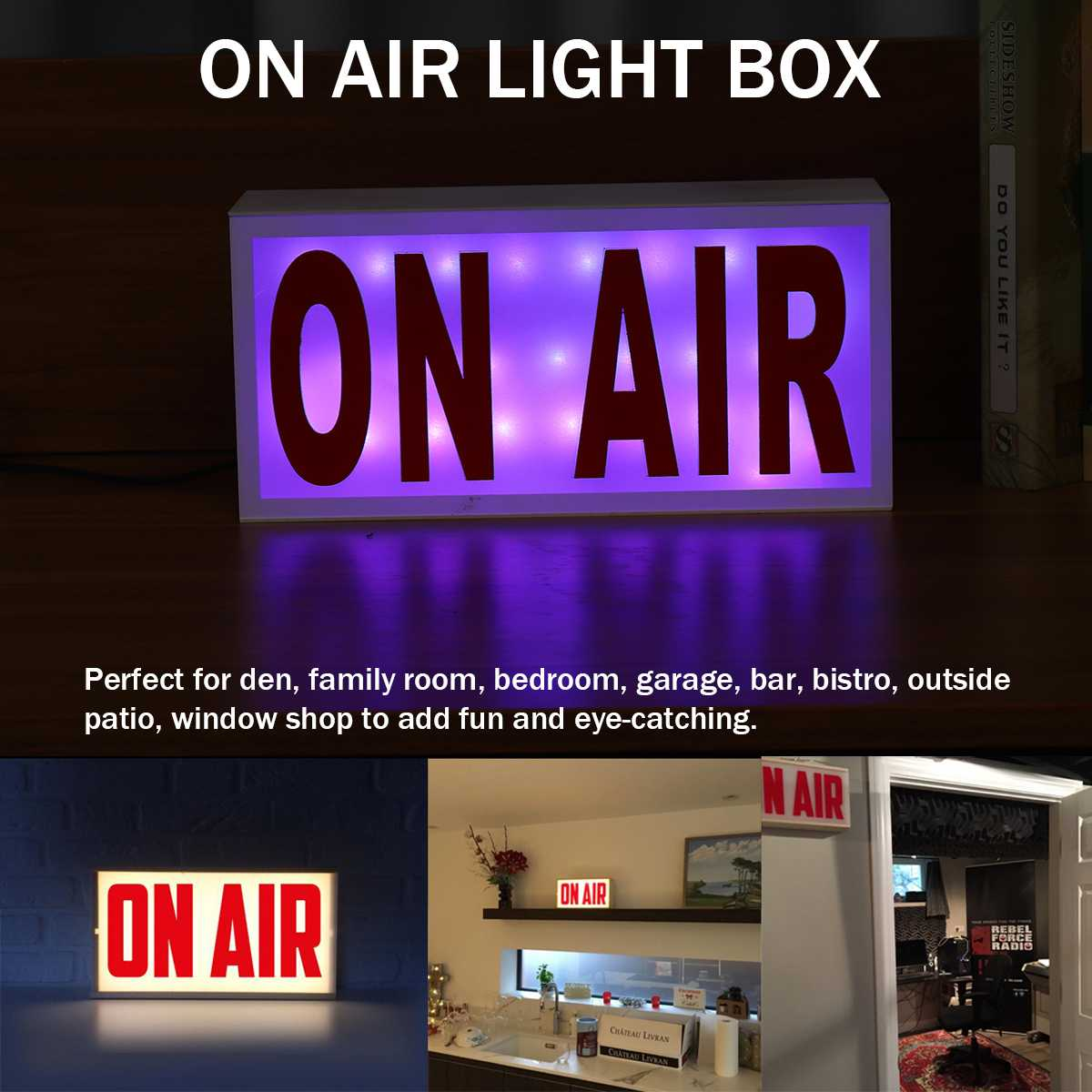 ON AIR Acrylic Remote Studio LED Neon Light Sign Letter Box Sign Shop Bar Beer Pub Home Decoration On Air Novelty Lighting 5V
