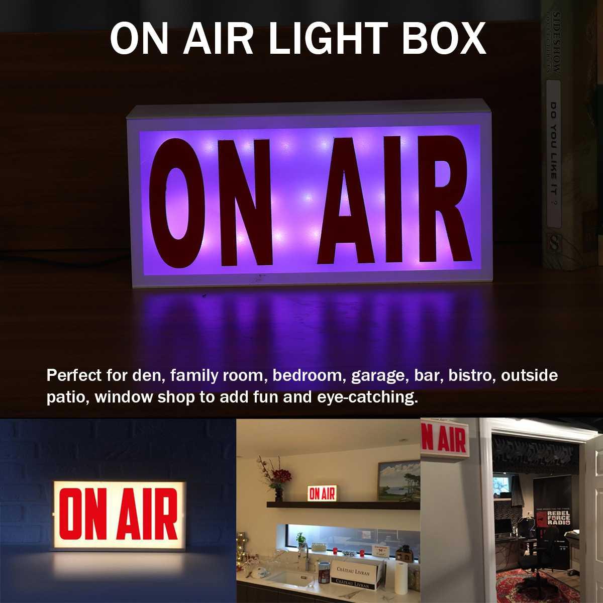ON AIR Acrylic Remote Studio LED Neon Light Sign Letter Box Sign Shop Bar Beer Pub Home Decoration On Air Novelty Lighting 5V