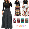 Fashion Casual Maxi Dress Plus Size Bohemian Print Vestidos Mujer Dress Boho Autumn Women Dress Elegant Long Dresses Vestido 5XL 1
