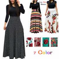 Mode Casual Maxi Kleid Plus Größe Böhmischen Druck Vestidos Mujer Kleid Boho Frühling Frauen Kleid Elegante Lange Kleider Vestido 5XL
