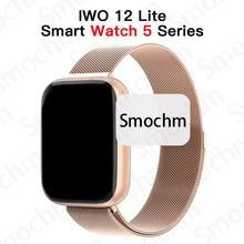 Waterproof IWO 12 Lite Heart Rate Smart Watch 5 Series Bluetooth 44 40mm 1:1 Smartwatch Phone IWO12 for Apple iOS iPhone Android