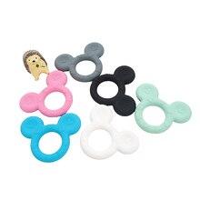 Chenkai 10PCS 실리콘 Teethers 귀여운 만화 Teething BPA 무료 DIY 유아 더미 감각 젖꼭지 액세서리