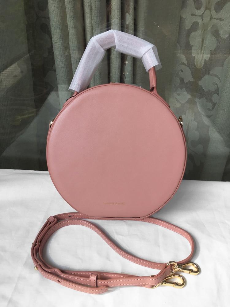 Women Genuine Leather Circle Bag ,Mansur Ladies Real Leather Shoulder Bag,Leather Circular Tote Bag For Girl