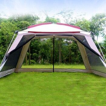Alltel 5-8 persona Ulterlarge 365*365*210CM gran calidad Gazebo refugio solar tienda De...