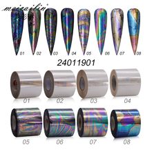 1 Roll 4cm*100m Charm Nail Foils Polish Stickers Holographic Laser Starry Paper Transfer Foil Decals DIY Nail Art Decorations
