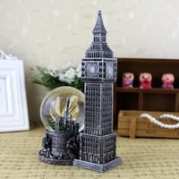 Vintage London Big Ben crystal ball set resin craft gift teachers' day gift