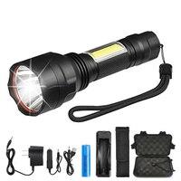 Taktische LED taschenlampe Mit seite COB arbeit licht design wasserdichte C8 taschenlampe Verwendet für radfahren  abenteuer  camping  etc|LED-Taschenlampen|Licht & Beleuchtung -