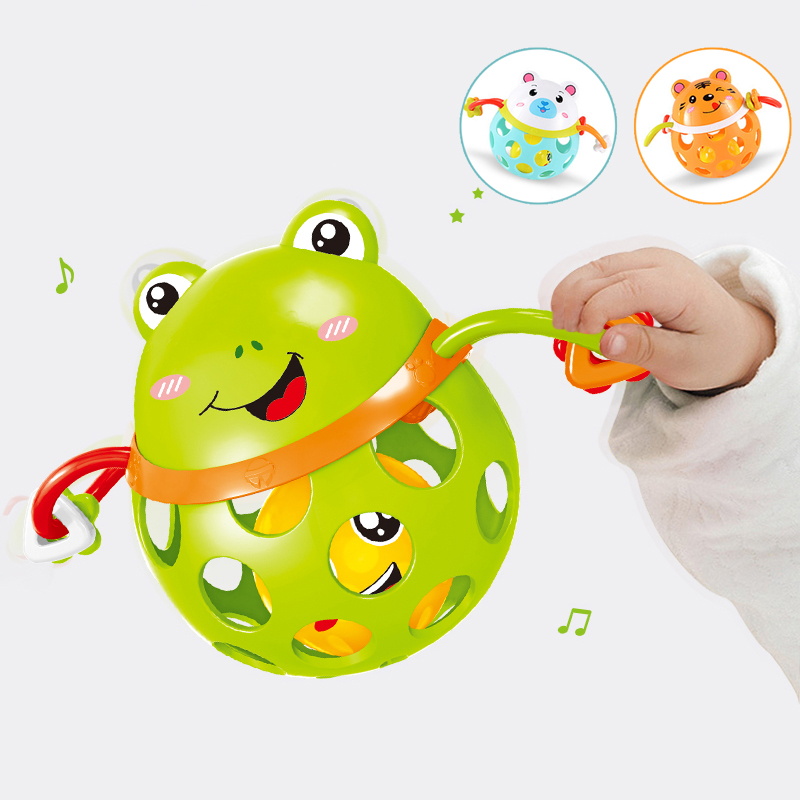 0 12 Months Baby Rattles toy Intelligence Grasping Gums Plastic Animal Music Hand Shake Toy Early Educational Gift for Newborns in Baby Rattles Mobiles from Toys Hobbies