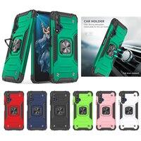 Funda de teléfono Armor para Huawei P30 P40 Lite Nova 4E 4G 6 SE 7I Pro Plus Y9S Y6 Y9 Prime 2019 Y6S P Smart Z 5T Honor 20, funda de anillo