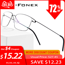 Prescription Eyeglasses Optical-Glasses-Frame Screwless-Eyewear Myopia Titanium-Alloy