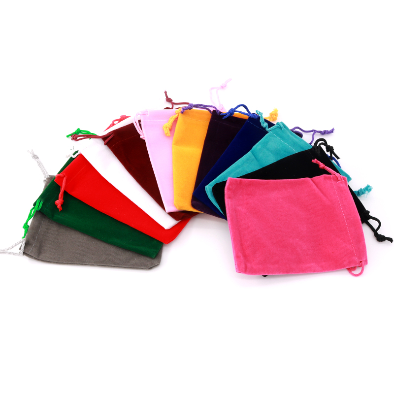 Multi Colors Small Velvet Gift Bags 5pcs/lot 5x7 7x9cm Fashion Jewelry Earrings Rings Beads Packing Pouches Cheap Drawstring Bag