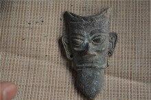Exquisite antique bronze mask decoration