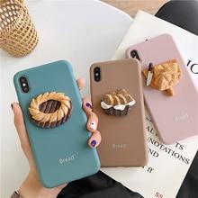 3D Teléfono caso para iPhone 8 colores Macarons comida suave cubierta trasera para iPhone X XR XS 11 Pro Max 6S 6 7 8 Plus