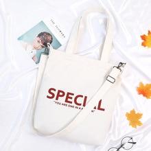 2019 new art small fresh diagonal portable canvas womens bag shoulder bag