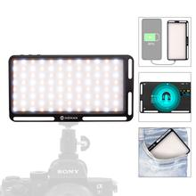 Moman البسيطة على كاميرا LED وظيفة الفيديو الضوئي مع تجدد Powerbank 4500mAh ثنائية اللون 3500 K 5700 K CRI96 + تصوير الإضاءة