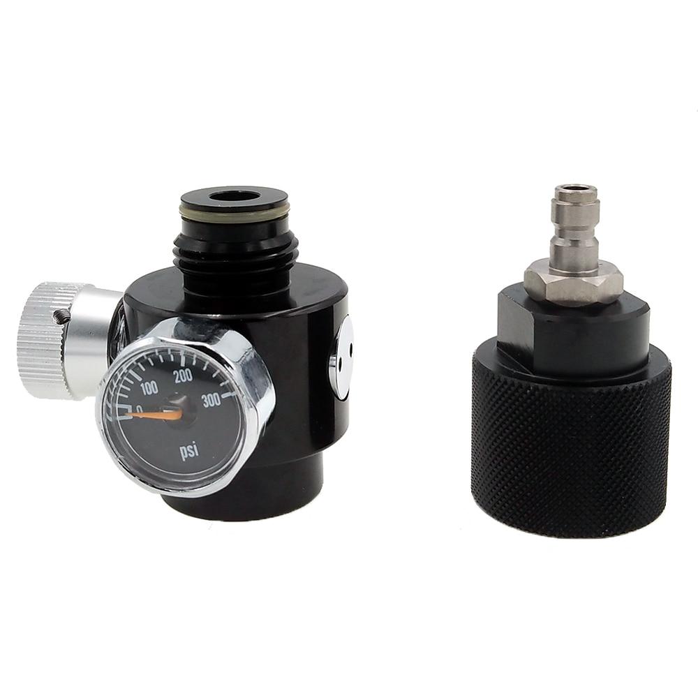 Paintball Airsoft BB GUN HPA Co2 Regulator & Adapter  DIY Kit Adjustable Range 0~200psi
