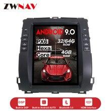 Unidad multimedia de coche estilo Tesla vertical Android 9,Zero para Toyota Land Cruiser Prado 120 2002-2009 Lexus GX470 radio de coche GPS ESTÉREO