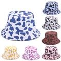 2021 NEW Bucket Hat Cow Printing Men Women's Summer Hat Beach Outdoor Shade Hip Hop Caps