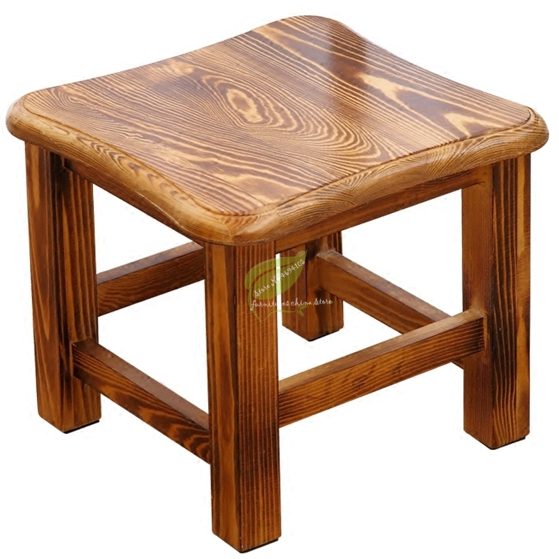 B Solid Wood Creative Bench Adult Low Stool Living Room Coffee Table Stool Dining Table Stool Shoe Bench Kids Furniture