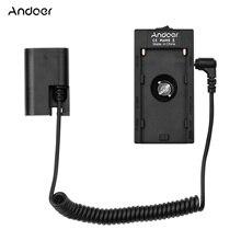 Andoer NP F970 F750 Batterie Platte Halter Adapter mit Dual USB Interface + LP E6 Dummy Batterie Koppler für Canon EOS Kameras