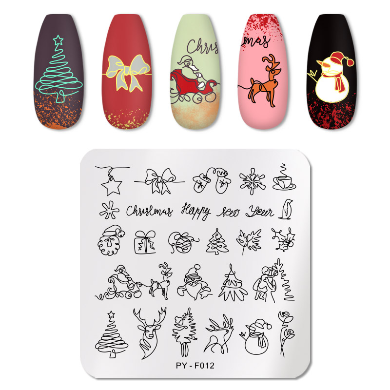 PICT YOU 12*6cm Nail Art Templates Stamping Plate Design Flower Animal Glass Temperature Lace Stamp Templates Plates Image 12