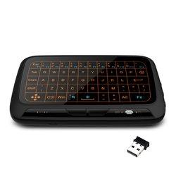 Mini H18 klawiatura bezprzewodowa 2.4GHz przenośna klawiatura zdalna klawiatura Touchpad dla Smart TV dla Android TV  pudełko gry komputerowe klawiatura